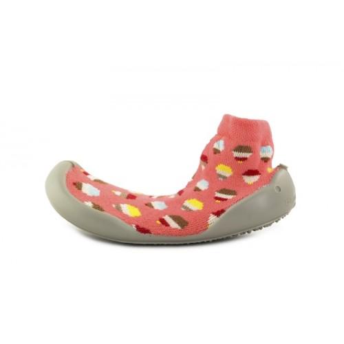 Zapatilla para casa calcetin coral con caramelos Collegien