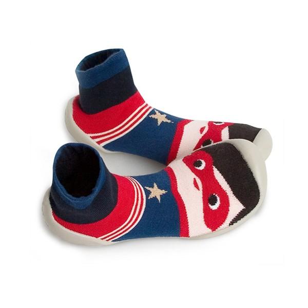Zapatilla para casa calcetín azul superman Collegien