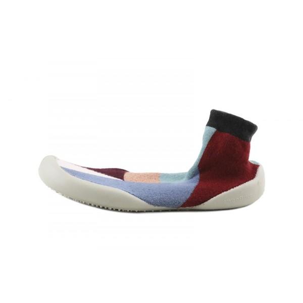Zapatilla para casa calcetín con estampado geométrico Collegien