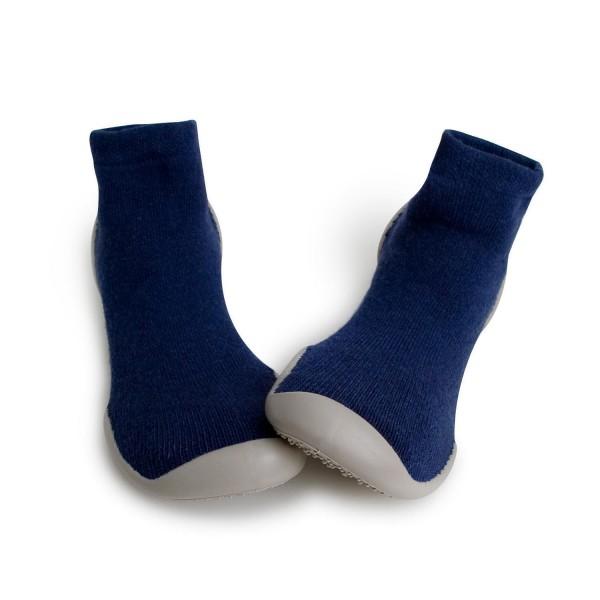 Zapatilla para casa calcetín liso azul Collegien