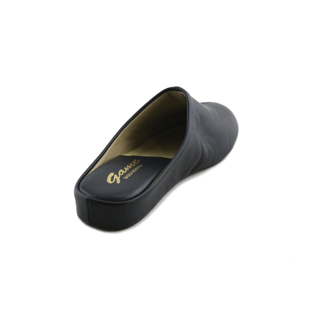 Zapatilla chinela para casa en piel azul Jeromín 1daa4c8e003