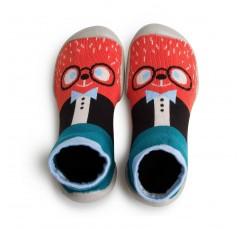 Zapatilla para casa calcetin osito con gafas Collegien