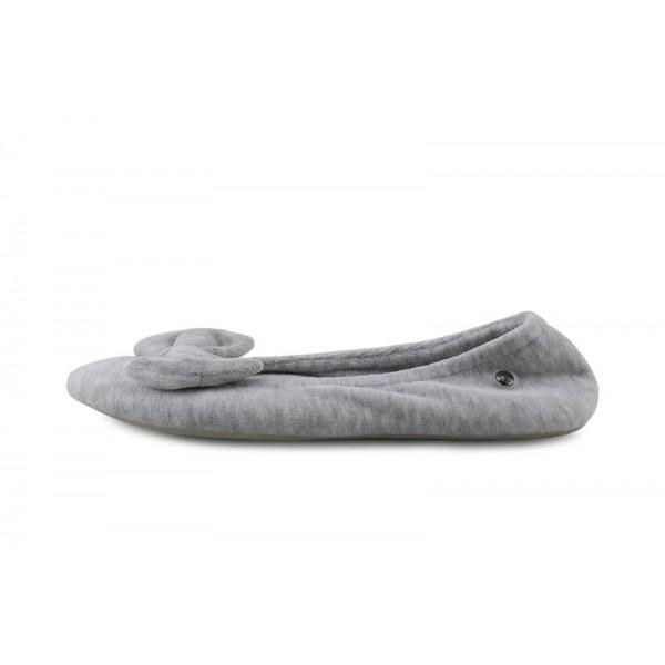Zapatilla terciopelo gris claro para casa Isotoner