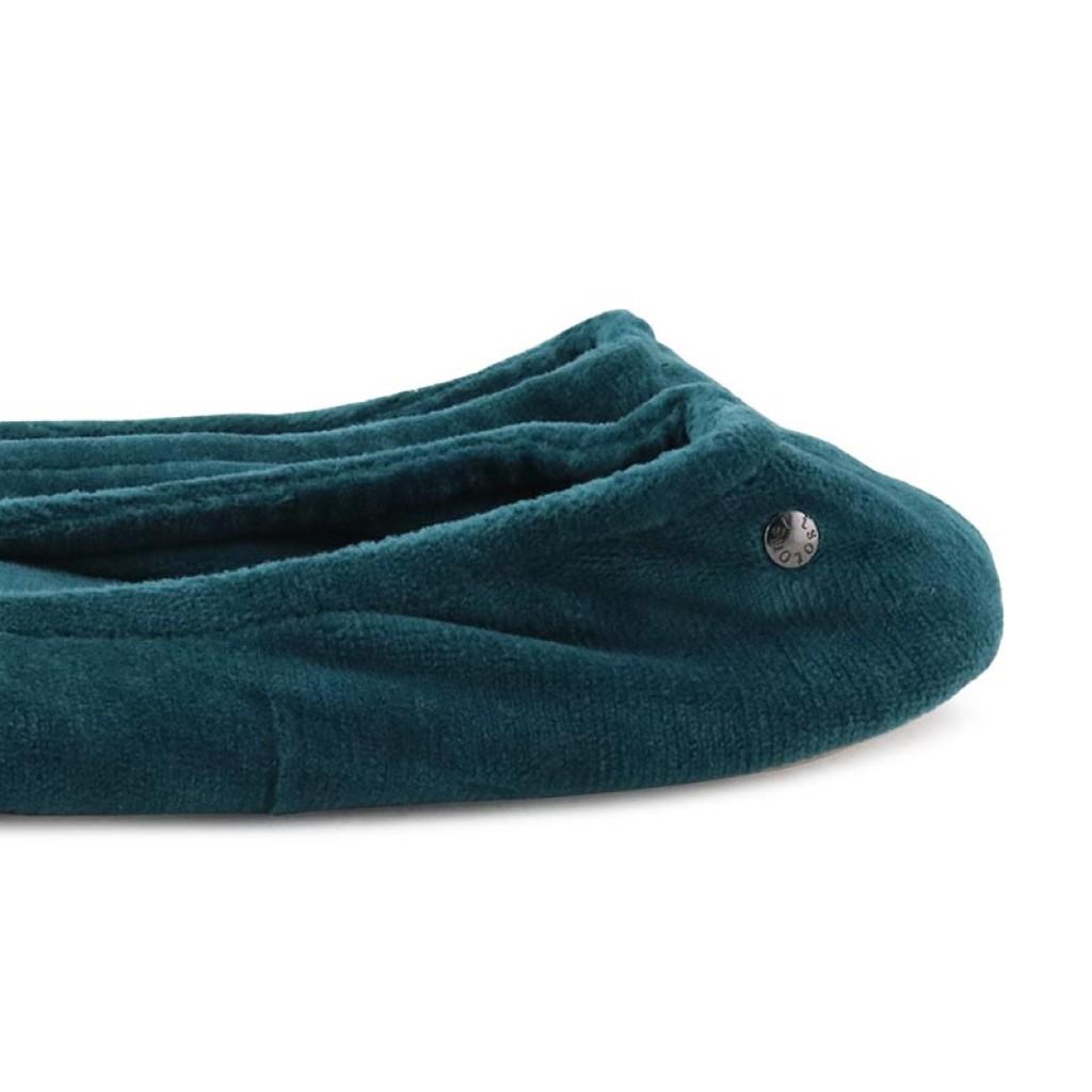 Zapatilla terciopelo azul pato para casa Isotoner