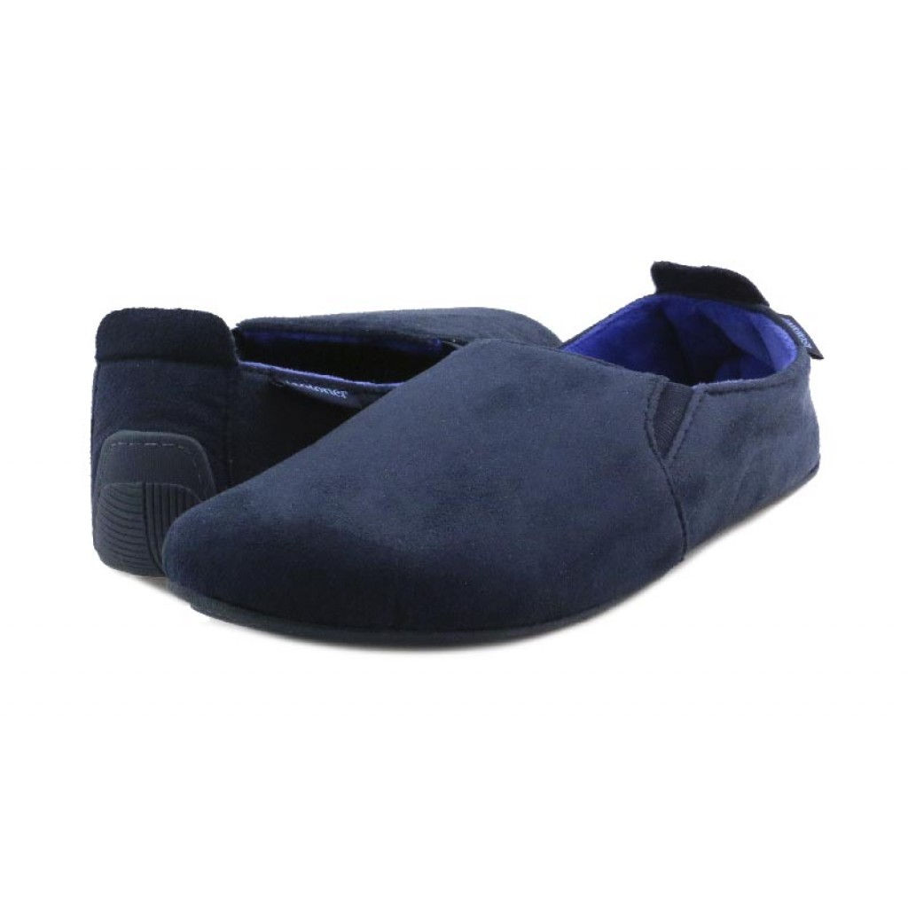 Zapatilla copete azul para caballero Isotoner