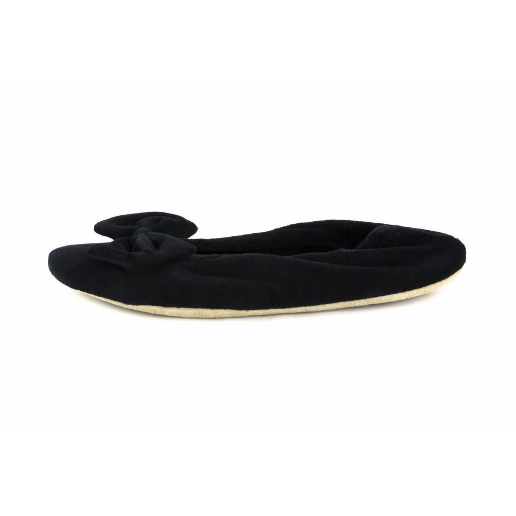 Zapatilla terciopelo para casa negra Isotoner