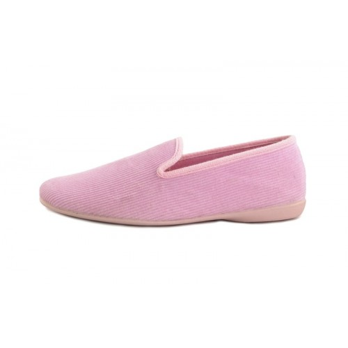 Zapatilla copete para casa de pana rosa Vul-Ladi