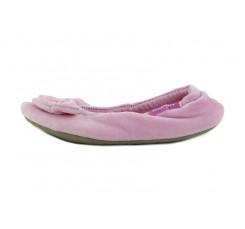 Zapatilla terciopelo para casa rosa con brillantes Isotoner