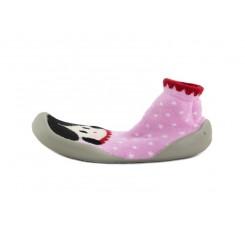 Zapatilla para casa calcetín estampado niña vestido rosa Collegien