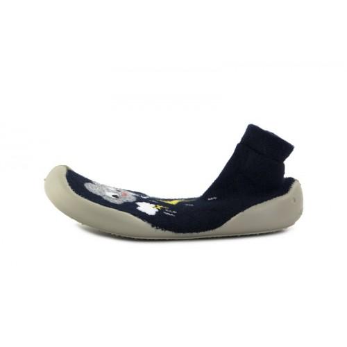 Zapatillas para casa calcetín azul con nube y rayo Collegien