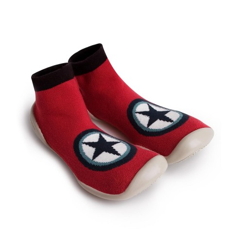 Zapatilla para casa calcetín rojo con estrella Collégien