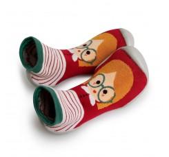 Zapatilla para casa calcetín niña con gafas Collegien