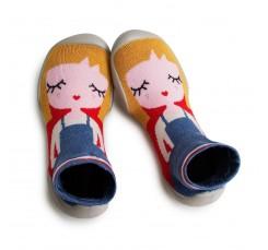 Zapatilla para casa calcetín niña rubia Collegien