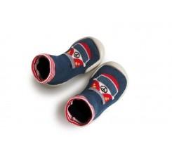 zapatilla para casa calcetín furgo roja collegien