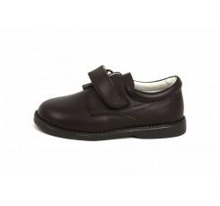 Zapato piel burdeos velcro 10301 Jeromín