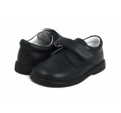 Zapato de velcro piel azul 10301 Jeromín