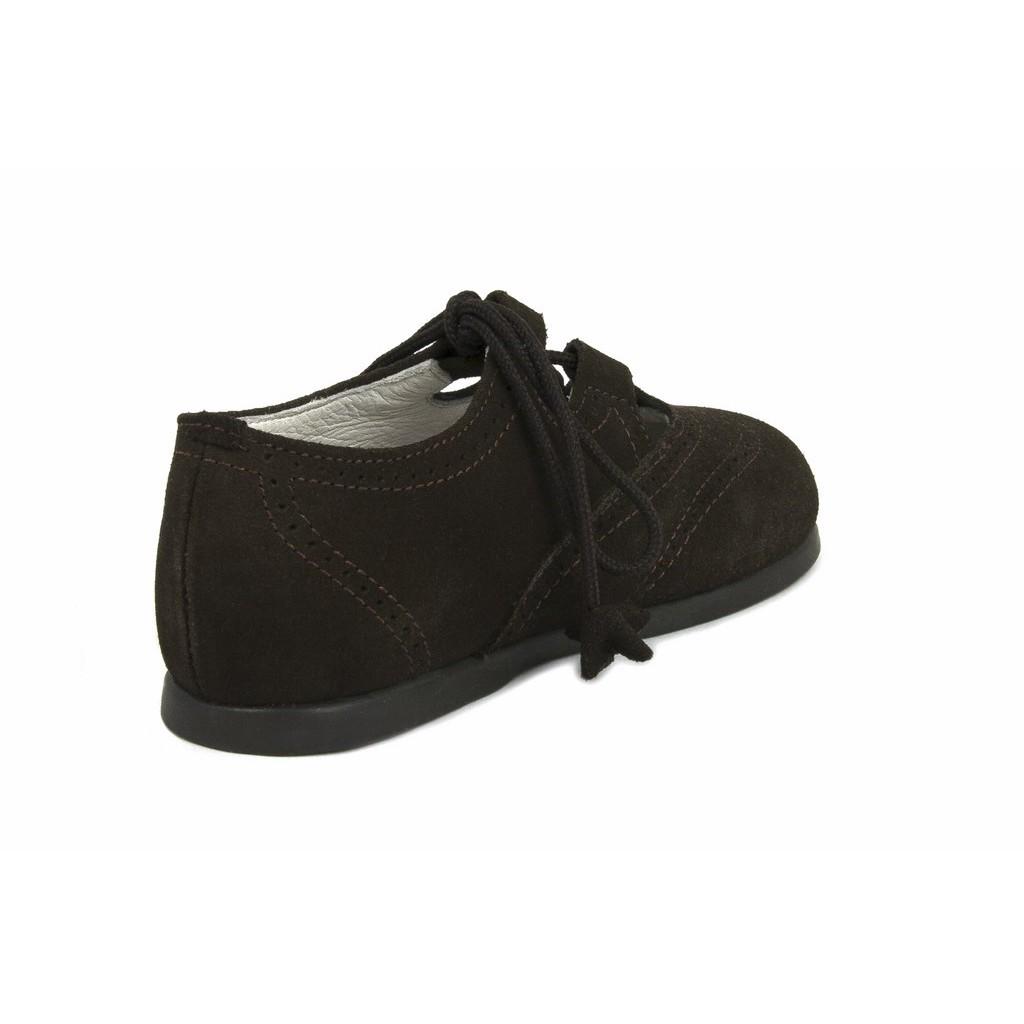 Zapato inglesito ante marrón Jeromín