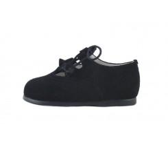 Zapato inglesito ante azul Jeromin
