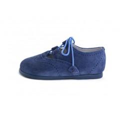 Zapato inglesito ante azulón Jeromín
