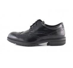 Zapato piel negra picado con cordón Ric.Bel