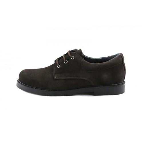 Zapato ante marrón con cordón Dar2 para Pepa&Cris
