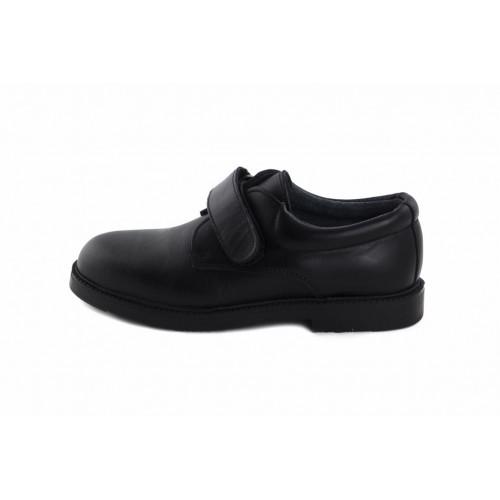 Zapato velcro piel negro 131 Jeromín