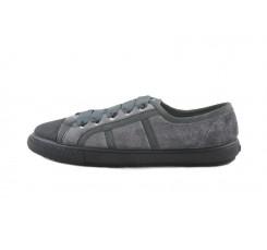 Zapato terciopelo gris con lazo Vul-Ladi