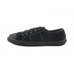 Zapato terciopelo negro con lazo Vul-Ladi