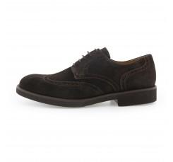 Zapato ante marrón picado con cordón Pielsa