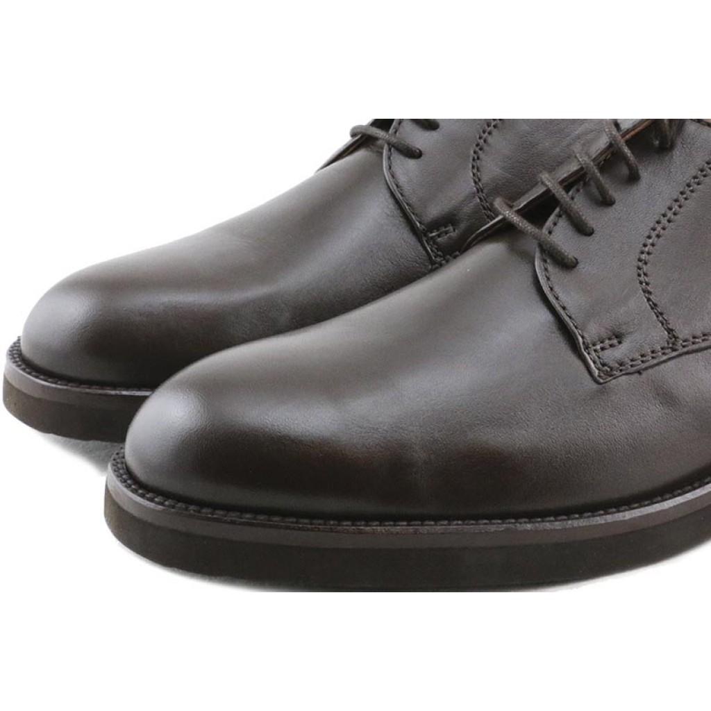 Zapato de piel marrón con cordón Pielsa