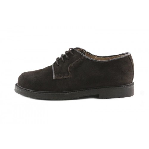 Zapato de cordón en ante marrón Jeromin