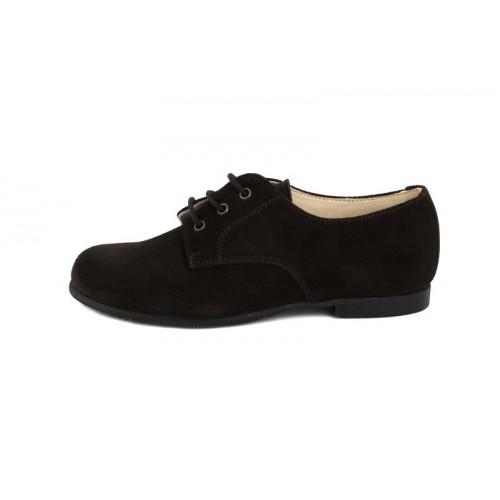 Zapato ingles ante marrón Jeromín