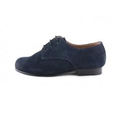 Zapato ingles ante azul Jeromín