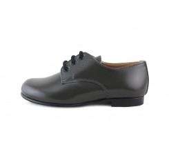 Zapato ingles piel gris brillante Jeromín