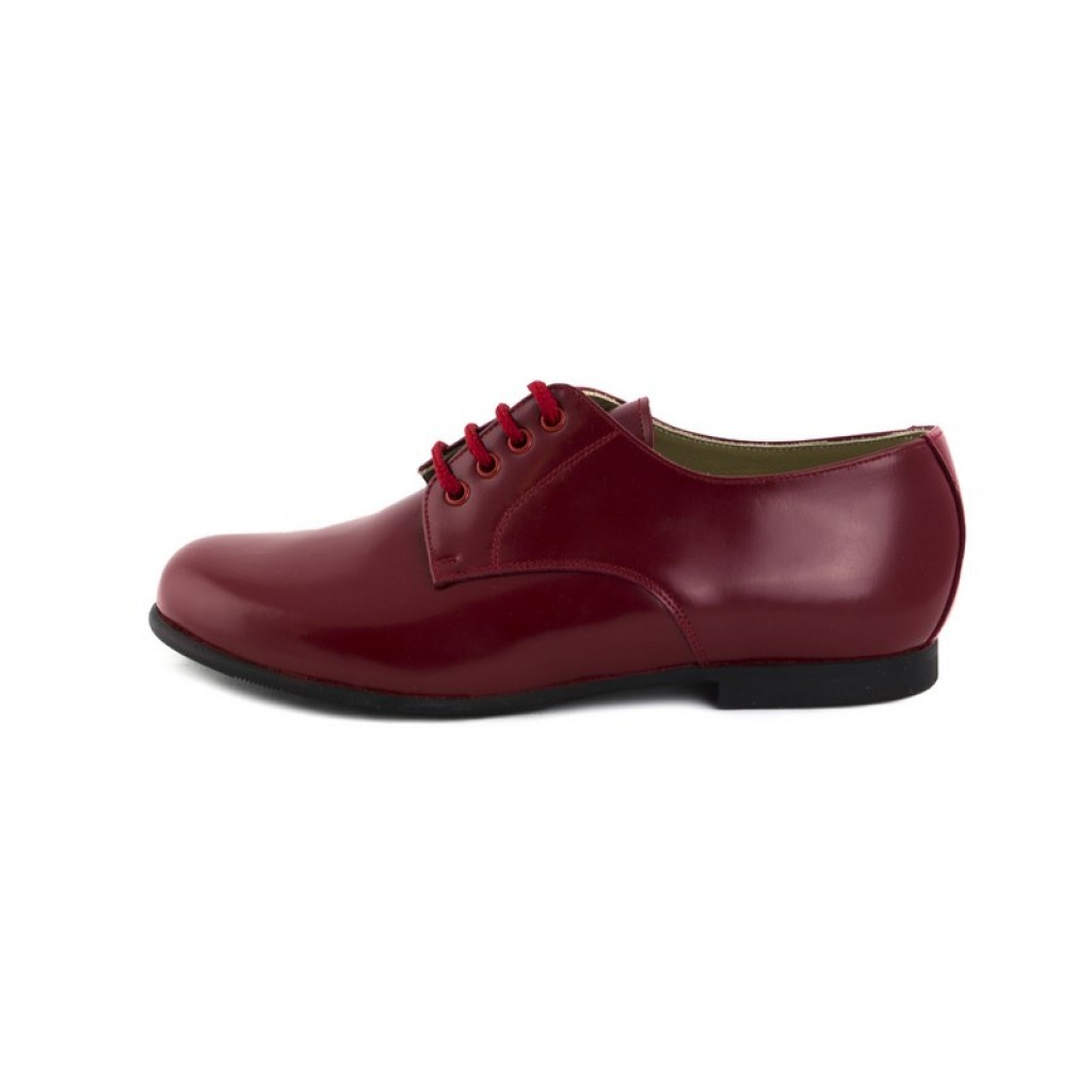 Zapato ingles piel guinda brillante Jeromín
