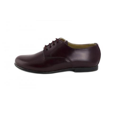 Zapato ingles piel burdeos oscuro brillante Jeromín