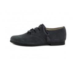 Zapato ante gris picado cordón cruzado Jeromín