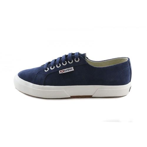 Zapato de ante azulón con cordón Superga