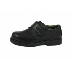 Zapato piel negro velcro Gorila