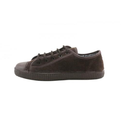 Zapato de pana marrón La Cadena