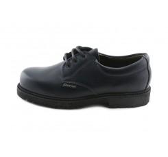 Zapato colegial en piel azul con cordón Gorila
