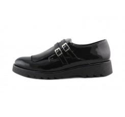 Zapato con lengueta en charol negro Eli para Jeromín