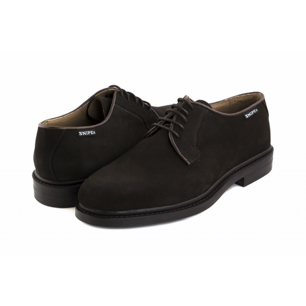 Zapato de ante marrón con cordón Snipe