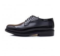 Zapato de piel negro brillante con cordón Snipe