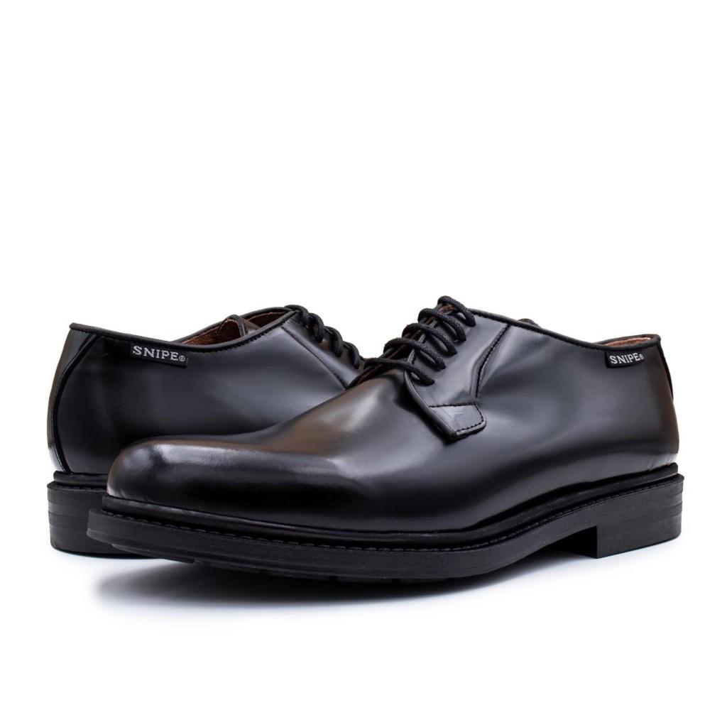 cef1128981b Negro Cordón Zapato Snipe Brillante Piel De Con AnEZqESv at ...