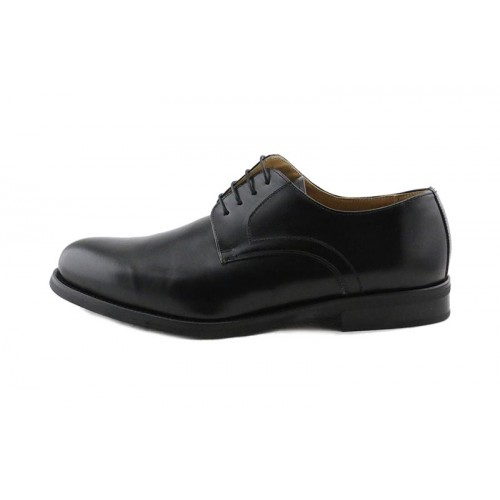 Zapato en piel negro con cordón liso Gils Clasic para Jeromin