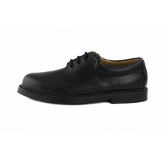 Zapato piel negro con cordón Jeromín