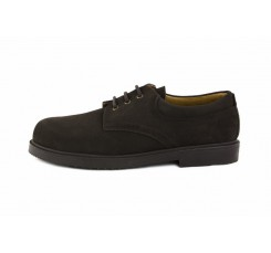 Zapato ante marrón con cordón Jeromín