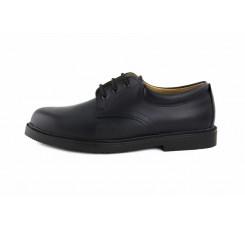 Zapato piel azul con cordón Jeromín