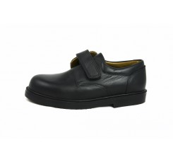 Zapato piel negro velcro N610 Jeromín